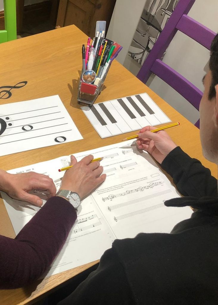 music theory lesson with Fiona Robinson